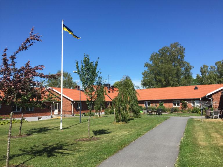Huset vid verksamheten Björkgården