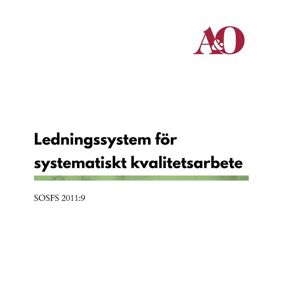 """Bild på framsidan av """"ledningssystem för systematiskt kvalitetsarbete"""""""